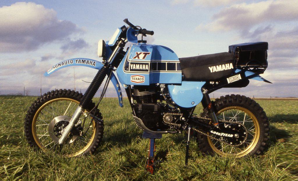 1981: XT500 with Paris-Dakar preparation